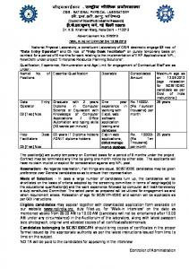 Data Entry Operator - National Physical Laboratory