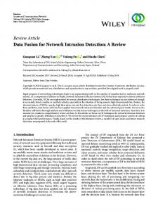 Data Fusion for Network Intrusion Detection: A Review