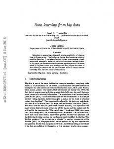 Data learning from big data