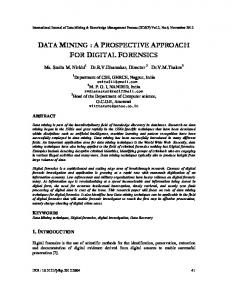 data mining : a prospective approach for digital ... - Aircc Digital Library