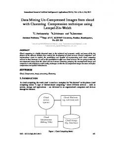 Data Mining Un-Compressed Images from cloud ... - Aircc Digital Library