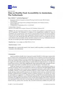 Data on Healthy Food Accessibility in Amsterdam, The ... - MDPI