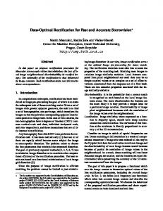 Data-Optimal Rectification for Fast and Accurate Stereovision
