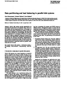 Data partitioning and load balancing in parallel ... - Semantic Scholar