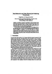Data Reduction and Noise Filtering for Predicting Times ... - CiteSeerX