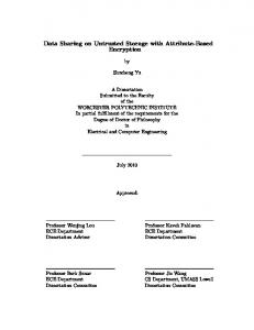 Data Sharing on Untrusted Storage with Attribute-Based Encryption