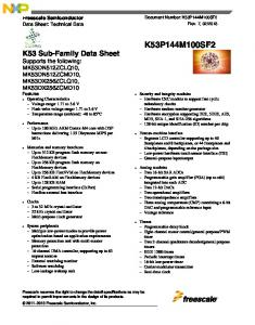 Data Sheet - Freescale Semiconductor