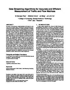 Data Streaming Algorithms for Accurate and Efficient Measurement of ...