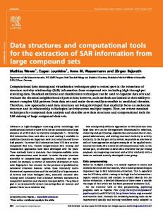 Data structures and computational tools for the extraction of SAR ...
