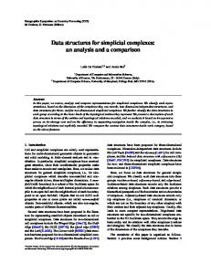 Data structures for simplicial complexes - CiteSeerX
