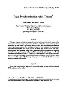 Data Synchronization with Timing - CiteSeerX