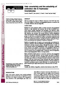 Data uncertainty and the selectivity of extinction ... - Wiley Online Library