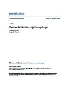 Database facilities for engineering design