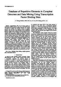 Database of Repetitive Elements in Complete Genomes ... - CiteSeerX