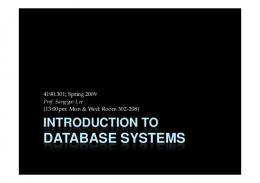 DATABASE SYSTEMS DATABASE SYSTEMS