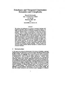 Databases and Temporal Constraints: Semantics