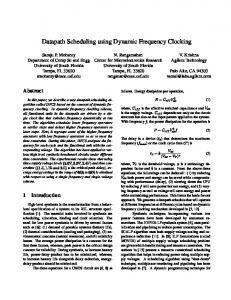 Datapath Scheduling using Dynamic Frequency ... - Semantic Scholar