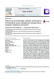Dataset on the knowledge, attitude, and practices of biomedical waste ...