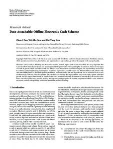 Date Attachable Offline Electronic Cash Scheme