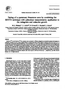 Dating of a quaternary limestone cave by combining the SSNTD ...