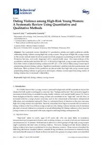 Dating Violence among High-Risk Young Women - Semantic Scholar