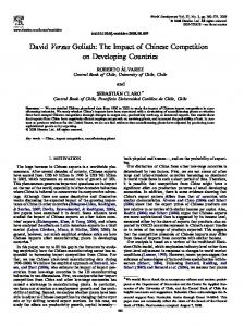 david versus goliath: the impact of chinese competition on ... - Dialnet