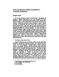 Davis and Hammon: Missed Cues Result in ... - Texas Law Review