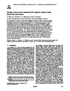 Dayside proton aurora associated with magnetic ... - Wiley Online Library