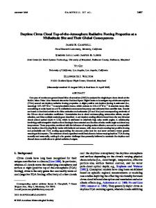 Daytime Cirrus Cloud Top-of-the-Atmosphere Radiative Forcing ...