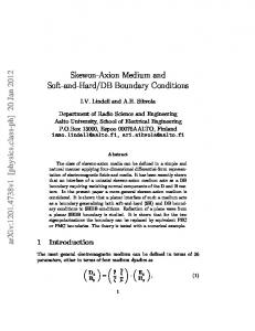 DB Boundary Conditions