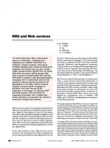 DB2 and Web services - IEEE Xplore