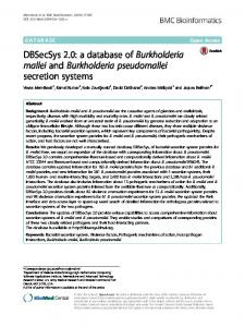 DBSecSys 2.0: a database of Burkholderia mallei and Burkholderia ...