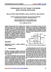 DC Boost Converter with Coupled Inductors