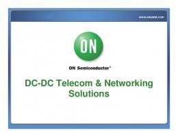 DC-DC Telecom & Networking Solutions - ON Semiconductor
