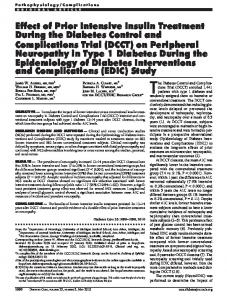(DCCT) on Peripheral Neuropathy - BioMedSearch