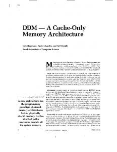 DDM-a cache-only memory architecture - Computer