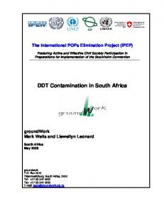 DDT Contamination in South Africa - IPEN