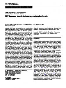DDT increases hepatic testosterone metabolism in rats
