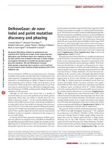de novo indel and point mutation discovery and phasing - Nature