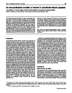 De novo-synthesized ceramide is involved in cannabinoid-induced ...