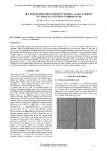de-striping for tdiccd remote sensing image based ... - ISPRS Archives