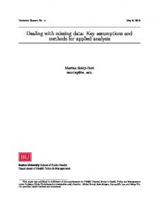 Dealing with missing data: Key assumptions and methods for applied ...