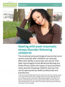 Dealing with post-traumatic stress disorder following childbirth - NCT