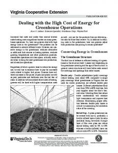 Dealing with the High Cost of Energy for Greenhouse Operations