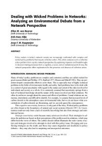 Dealing with Wicked Problems in Networks ... - Oxford Academic