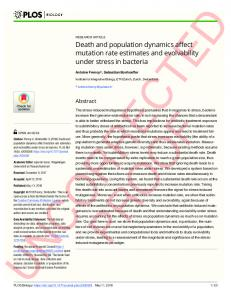 Death and population dynamics affect mutation rate estimates ... - PLOS