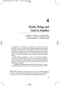 Death, Dying, and Grief in Families - CiteSeerX