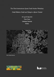 Death Matters: Death and Dying in a Queer Context - WordPress.com