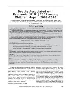 Deaths Associated with Pandemic (H1N1) 2009 among Children ...