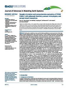 Decadal simulation and comprehensive ... - Wiley Online Library
